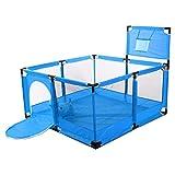 Handon HANDAN Baby Laufstall Kids Safety Activity Center Indoor Outdoor Kleinkindzaun mit atmungsaktivem Netz und Basketballkorb sicherer Spielplatz für Kleinkinder 126X126X66cm enjoyment polite