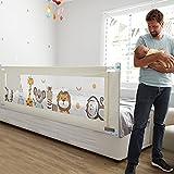 Fascol Bettgitter, 200 cm Kinderbettgitter Babybettgitter zum Vertikalen Heben, Bettschutzgitter für Kinderbetten und Elternbetten, 1 Seite