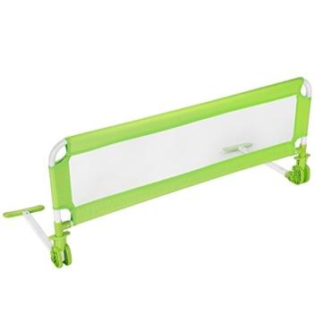 TecTake® Kinder Bettgitter Bettschutzgitter 102cm grün -