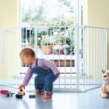 BABY-DAN Konfigurationsgitter FLEX L Schutzgitter, weiß -