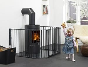 Kaminschutzgitter von Baby Dan, Hauck & Co. - sicher, flexibel und erweiterbar