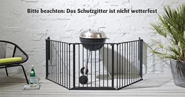Baby Dan Konfigurationsgitter / Kaminschutzgitter Flex XL 90 - 278 cm, Schwarz - Hergestellt in Dänemark und vom TÜV GS geprüft -
