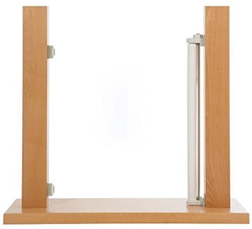 Impag Treppenschutzgitter Türschutzgitter Rollo einrollbar ausziehbar bis 140 cm -