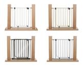 Impag Türschutzgitter Treppenschutzgitter 62 - 222 cm selbstschließend - zum Klemmen - ohne Bohren EasyStep + 20 Weiß -