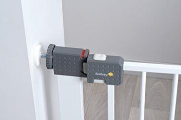 Safety 1st Quick Close ST Treppenschutzgitter, extra sicheres Metall-Türschutzgitter zum Klemmen, weiß, 73 - 80 cm, Möglichkeit der Verlängerung bis zu 136 cm verlängerbar (ab ca. 6 - 24 Monate) -