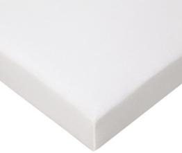 Jersey Spannbettlaken für Laufgitter 100x100 cm, weiß - 1