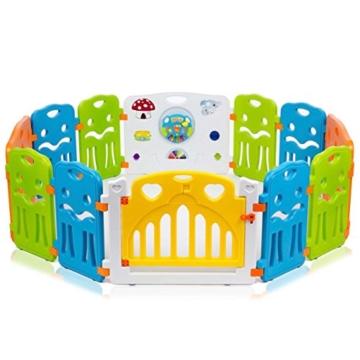 baby vivo laufstall aus kunststoff f r babys und kinder kinderschutzgitter. Black Bedroom Furniture Sets. Home Design Ideas