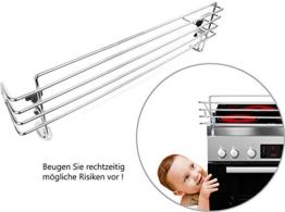 BOMI Herdschutzgitter MOWI Kinderschutzgitter zum Klemmen für alle Einbau Herdarten | aus Metall | ohne Bohren | 68 cm breit | Hochwertige Kindersicherheit am Herd - 1