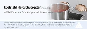 reer Herdschutzgitter zum Klemmen aus Edelstahl, für Gasherd geeignet - 3