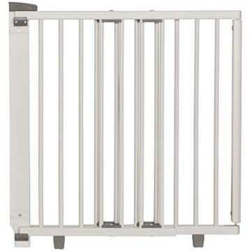 Geuther Tür- & Treppenschutzgitter aus weißem Holz zum Schrauben -